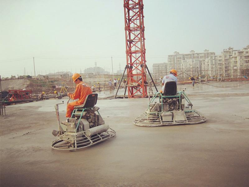 迪乐堡密封固化地坪工程施工现场