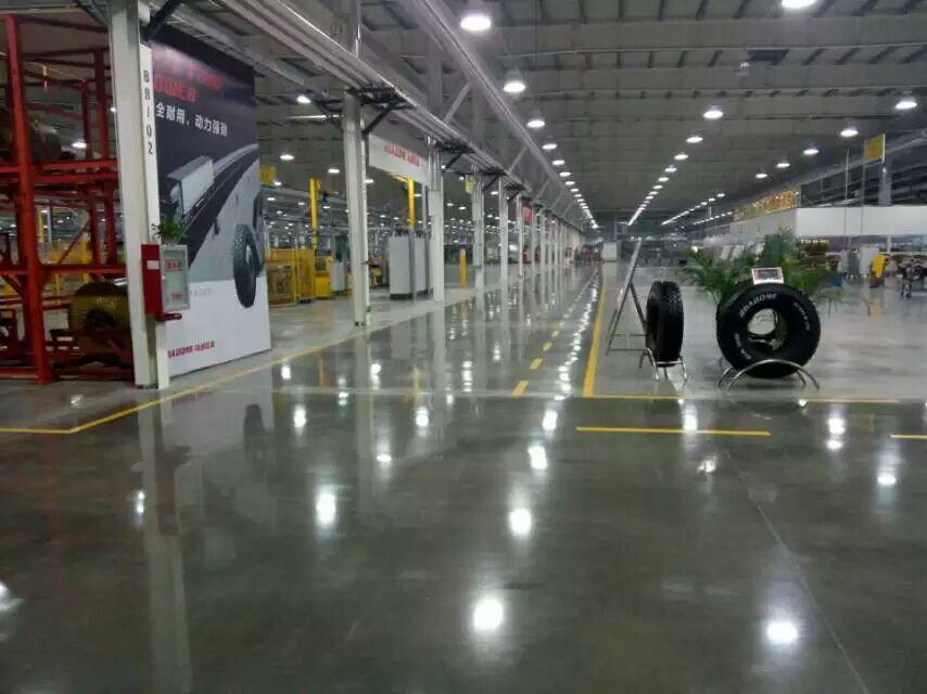 倍耐力轮胎安斯福混凝土固化剂地坪项目