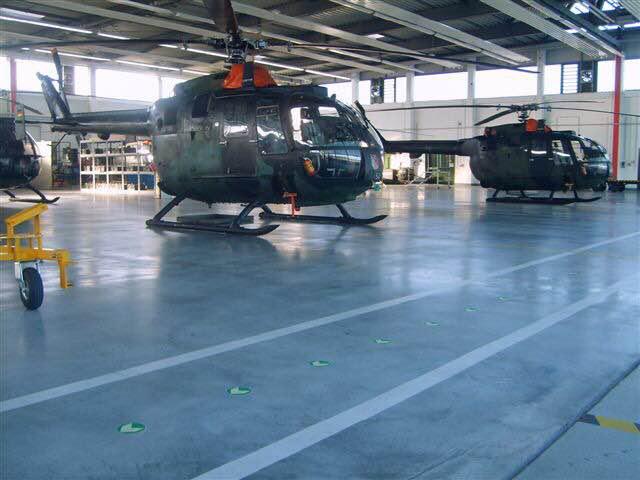 东营机场车间地面——密封固化地坪