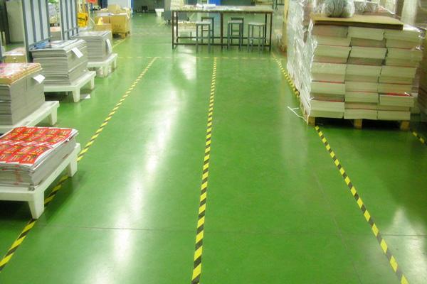 汇源印刷车间地面——密封固化地坪