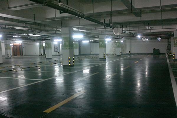 成都美年广场地下停车场地面——密封固化地坪