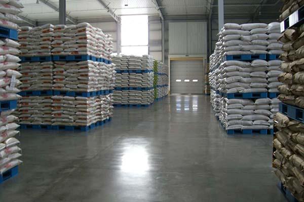 中粮米业安斯福混凝土固化剂地坪项目