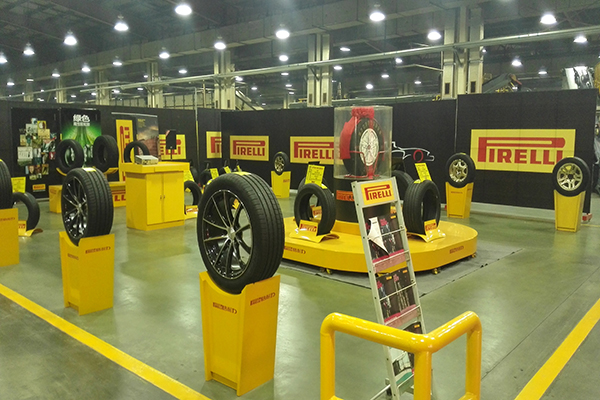 倍耐力轮胎车间地面——迪乐堡密封固化地坪