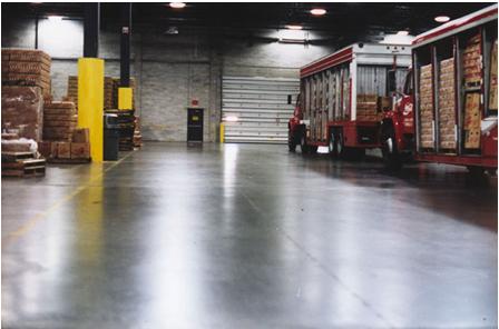 可口可乐饮料车间地面——密封固化地坪
