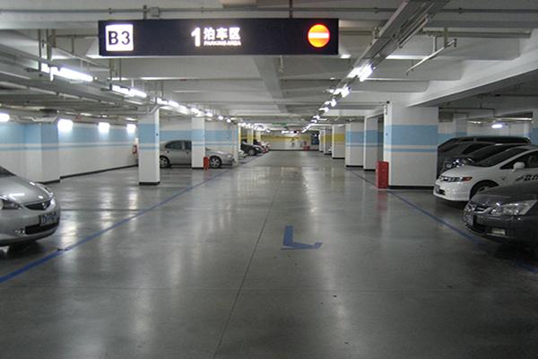 广州天河城停车场地面—迪乐堡密封固化地坪