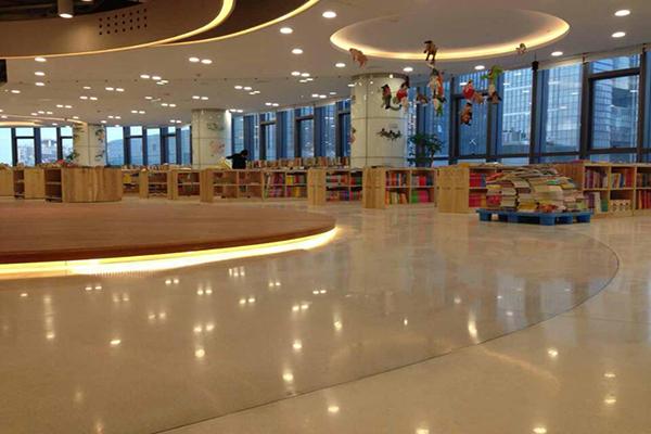 苏州凤凰图书馆地面——迪乐堡致密钢化地坪