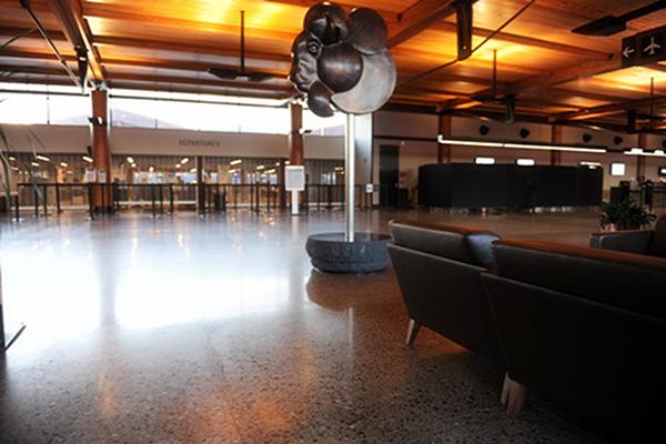 美国黄石机场地面——迪乐堡致密钢化地坪
