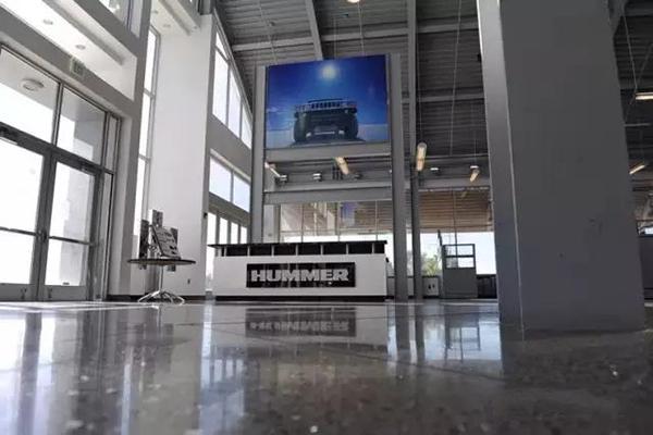 悍马4S展厅地面——迪乐堡致密钢化地坪