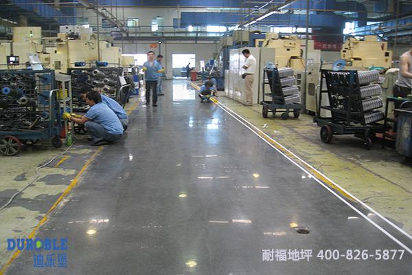 陕西法士特致密钢化地坪翻新